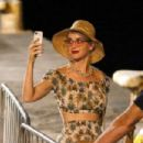 Katy Perry out on the Amalfi Coast in Positano