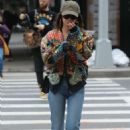 Emily Ratajkowski in Colorful Jacket – Out in New York