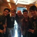 BTR Guys hanging up with their friends