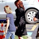 Scarlett Johansson On The Set Of Captain America Civil War In Atlanta