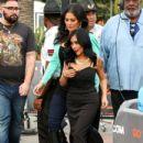 Nicole 'Snooki' Polizzi stop by the 'Extra' set January 26,2015