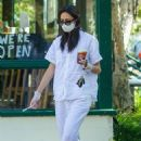 Emmy Rossum – Leaves Starbucks in Malibu