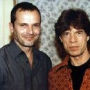 Miguel Bosé and Mick Jagger