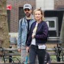 Olivia Wilde spotted taking a walk during a break from filming her upcoming movie 'Life, Itself' in Manhattan, New York's Washington Square Park on March 26, 2017 - 396 x 600