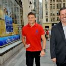 Ryan Lochte arriving at the 'Today Show' (August 23)