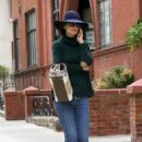 Katie Holmes in Jeans and Hat out in New York