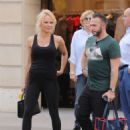Pamela Anderson in Black Outfit – Out in Paris - 454 x 614