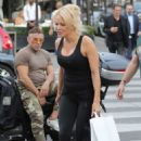 Pamela Anderson in Black Outfit – Out in Paris - 454 x 702