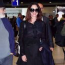 Asia Argento Arriving at Airport in Nice - 454 x 845
