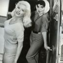 "Joan Collins and Jayne Mansfield on the set of ""The Wayward Bus"", 1957 - 454 x 568"