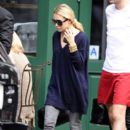 Ashley Olsen is seen leaving Sant Ambroeus restaurant in the West Village