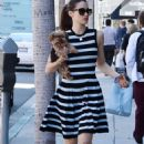 Emmy Rossum With Her Dog – Out in Beverly Hills