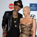 Amber Rose and Wiz Khalifa  arrive at Clive Davis and the Recording Academy's 2012 Pre-GRAMMY Gala and Salute to Industry Icons Honoring Richard Branson held at The Beverly Hilton Hotel in Beverly Hills, California - February 11, 2012 - 419 x 594