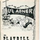"""Playbill For The 1956 Broadway Musical """"Lil Abner"""""""