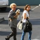 Miley Cyrus - Takes Her Grandmother To Work With Her, 2009-05-02