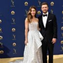 Justin Timberlake and Jessica Biel : 70th Emmy Awards - 454 x 600