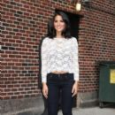 "Olivia Munn: appearance on the ""Late Show with David Letterman"" in NYC"