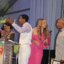 Mariah Carey with Nick Cannon at the 13th Annual Russell Simmons Rush Philanthropic Art for Life event (July 28)