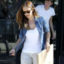 Minka Kelly: leaving the Salon Benjamin in West Hollywood