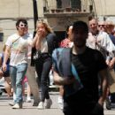 Sophie Turner and Joe Jonas – Out for some lunch in Barcelona - 454 x 350