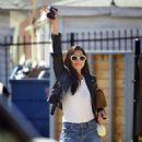 Jessica Gomes – Arriving at a friend's Memorial Day barbecue in LA - 454 x 597