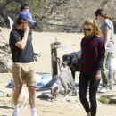 Shia LaBeouf and his new wife, Mia Goth, spend the day at the dog park in Studio City, California on October 15, 2016 - 454 x 547
