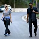 'The Walking Dead' actress Laurie Holden spotted out for a walk with a mystery man in Studio City, California on December 29, 2013 - 454 x 362