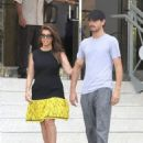 Kourtney Kardashian and Scott Disick go for a quick stroll outside their hotel in Miami, Florida on September 18, 2012