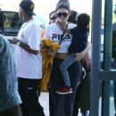 Kylie Jenner and Tyga spotted departing on a flight in Costa Rica on January 30, 2017 - 454 x 593