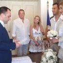 Ana Beatriz Barros and Karim El Chiaty- civil wedding ceremony in Mykonos, Greece - 454 x 255