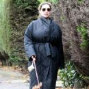 Kelly Brook – Takes her dog Teddy out for a walk in London