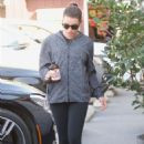 Lea Michele in Tights – Out in Brentwood