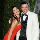Seth MacFarlane & Lauren Sanchez Attend the 2012 Vanity Fair Oscars After Party, 2/26/12 - 416 x 594