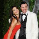 Seth MacFarlane & Lauren Sanchez Attend the 2012 Vanity Fair Oscars After Party, 2/26/12