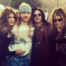 Axl Rose & Stephanie with Gilby and Daniella Clarke - 454 x 454