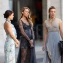 Sam Page and Katie Cassidy Film at the Lincoln Center
