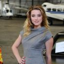 Amber Heard promoting her upcomming appearance on BBC's 'Top Gear' - Dunsfold Aerodrome in Surrey, 16.02.2011