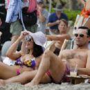 Jon Hamm and Jessica Paré on the beach, Mad Men stills