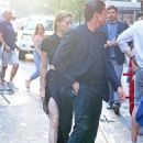 Amber Heard and Vito Schnabel – Heading to Springsteen in NYC