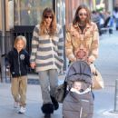 Chris Robinson and Allison Bridges go for lunch in the West Village