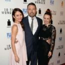 "Ben Affleck, Rachel McAdams and Olga Kurylenko at the Los Angeles premiere of ""To the Wonder"" (April 9)"