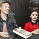 Lily Collins and Jamie Campbell Bower at a Q&A and book signing to promote