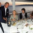 Mick Jagger and L'Wren Scott attend Finch's Quarterly Cannes Dinner 2010 at the Hotel du Cap as part of the 63rd Cannes Film Festival on May 17, 2010 in Antibes, France