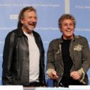 Robert Plant and Roger Daltrey pose at a press conference to announce the Daltrey/Townsend Teen & Young Adult Cancer Program at UCLA on November 4, 2011 in Los Angeles, California - 454 x 436