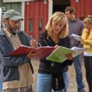 Co Writer Ira Pearlstein with Script Supervisor, A.J. Cook and David Sutcliffe in BG. - 454 x 357