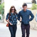 Orlando Bloom with Miranda Kerr: set out for a stroll around Sydney