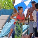 Lea Michele filming in Hawaii