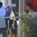 Selena Gomez spotted visiting Justin Bieber during his writing session at Miami's Hit Factory recording studio  Tuesday night (April 8) in Miami,Fl