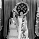 Miss Universe 1974, Amparo Munoz from Spain, with Imelda Marcos, First Lady of the Philippines.