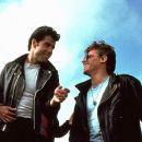 John Travolta and Jeff Conaway in Grease (1978)